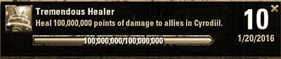 Tremendous Healer - 100,000,000 Healing in Cyrodil