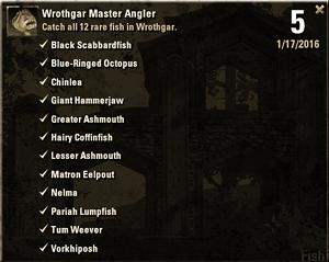 Wrothgar Master Angler List