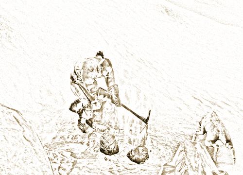 Harvesting ore