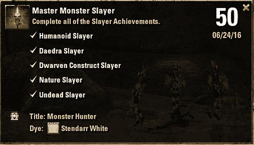 Achievement - Master Monster Slayer