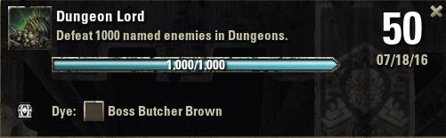 Dungeon Lord Achievement