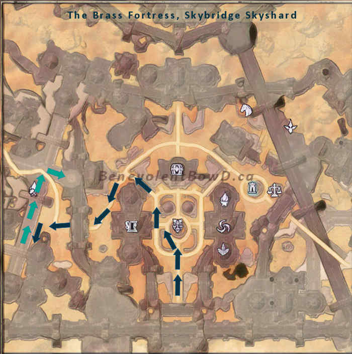 map clockwork city brass fortress skybridge skyshard route