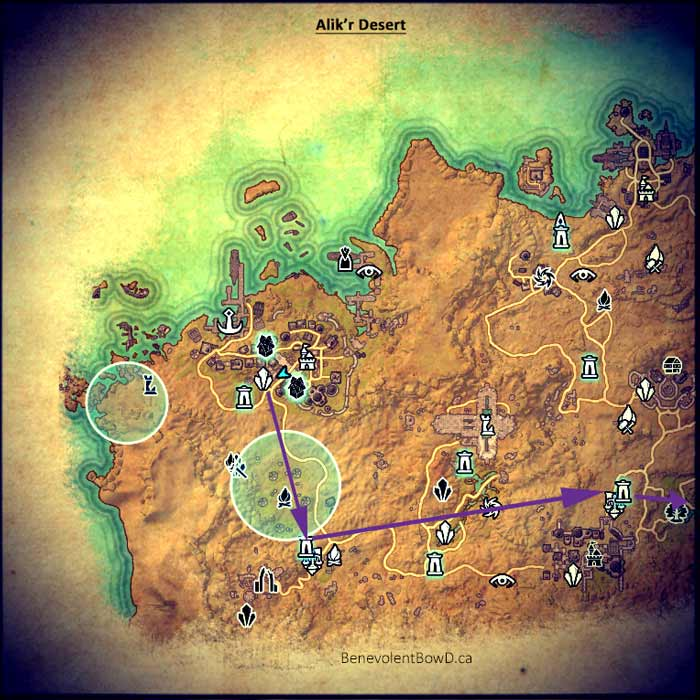 Map quest A Taste for Toxins