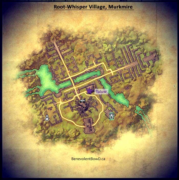 Map - Root-Whisper Village Murkmire, Elder Scrolls Online