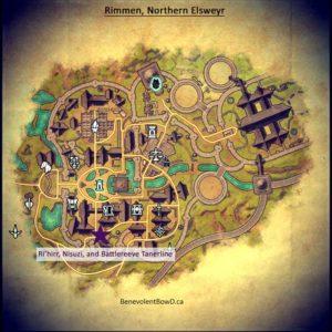 Map - Rimmen, Dailies NPC quest giver locations