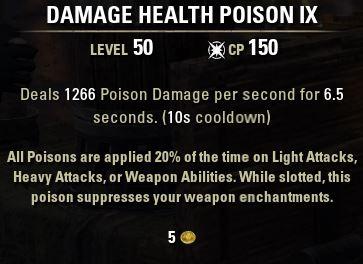 Damage Health Poison IX tooltip