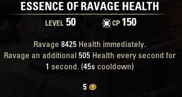 essence of ravage health tooltip