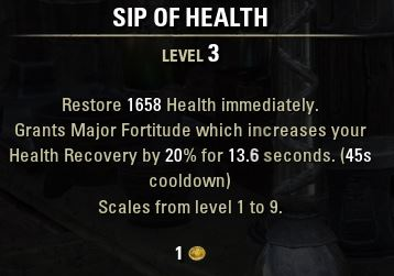 Sip of Health Tooltip