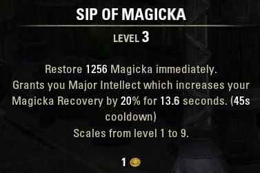 Sip of Magicka Tooltip