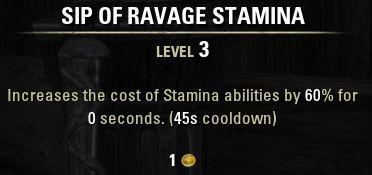 Sip of Ravage Stamina Tooltip