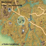 map grave circumstances stake placement locations