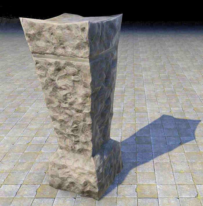 pedestal dark stone