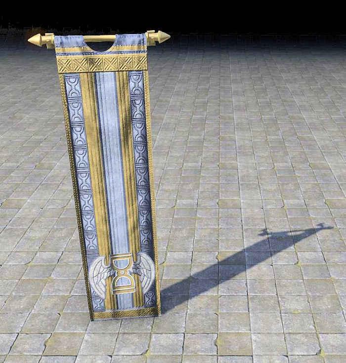 hourglass banner, akatosh