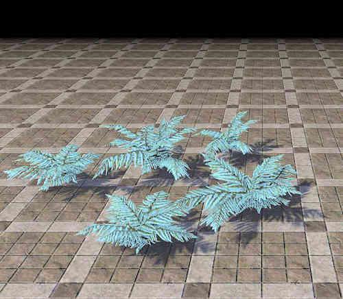 fern, cyan cluster