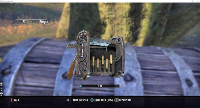 lock picking minigame gamepad ui